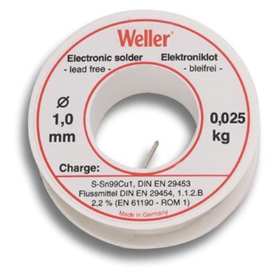 Weller EL99-1-25 Soldeertin, 1mm, 25g, Loodvrij