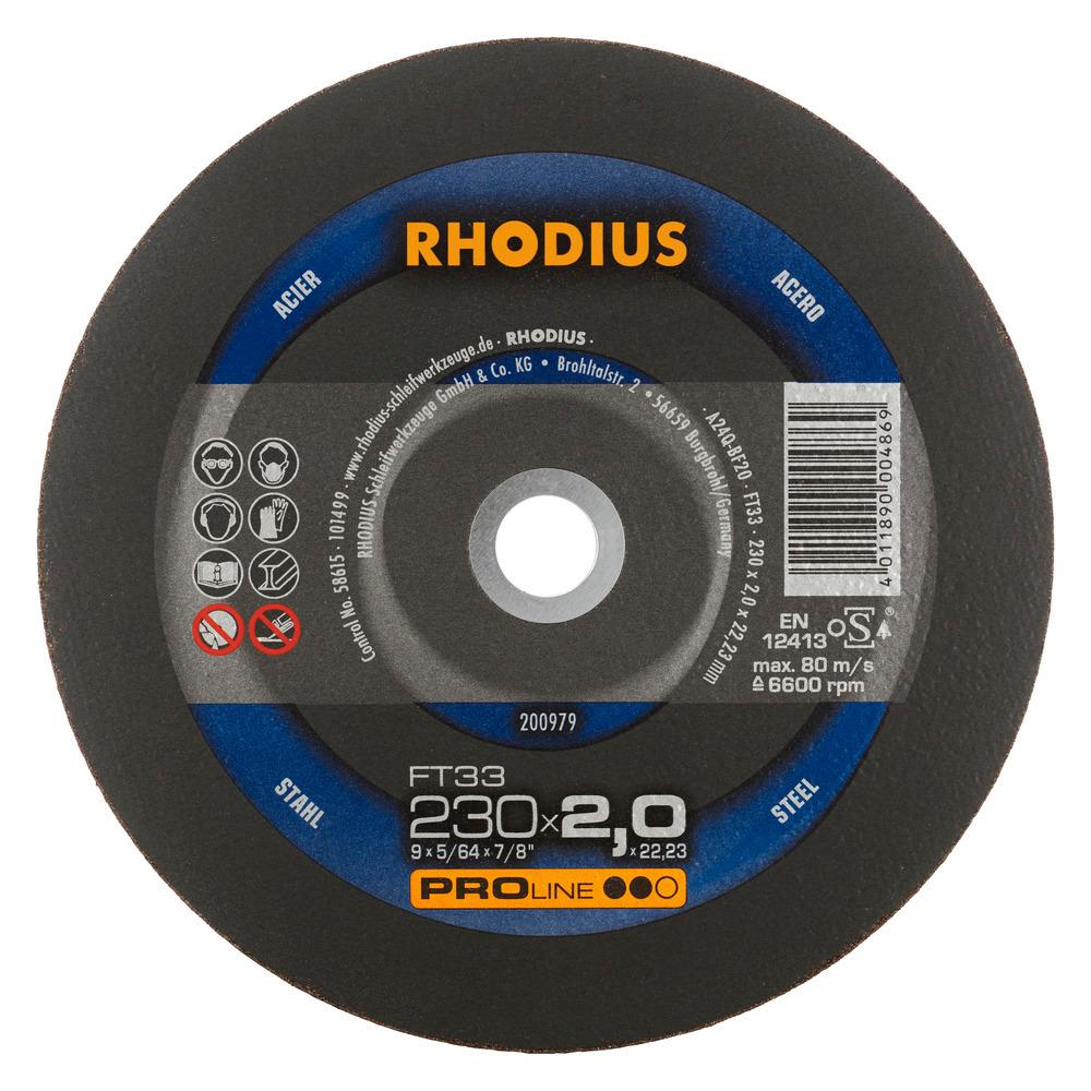 Rhodius FT33 Doorslijpschijf 230 x 3,0 x 22,23 Staal