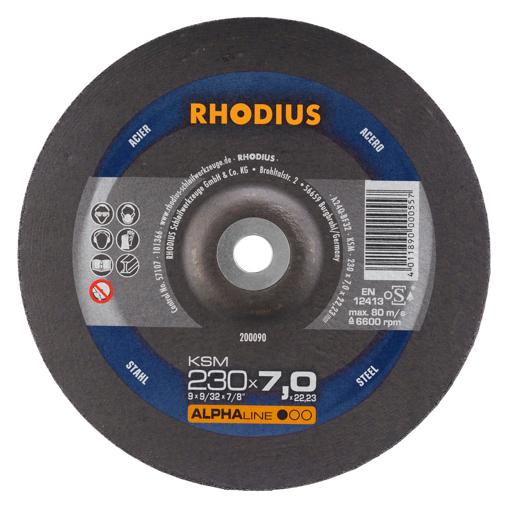 Rhodius KSM Afbraamschijf 230 x 7,0 x 22,23 Staal