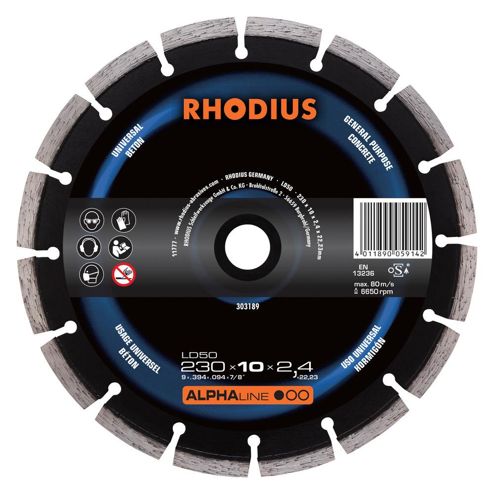 Rhodius LD50 Diamantdoorslijpschijf 230mm