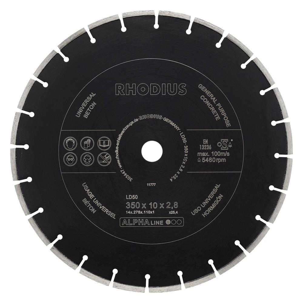 Rhodius LD50 Diamantdoorslijpschijf 350mm