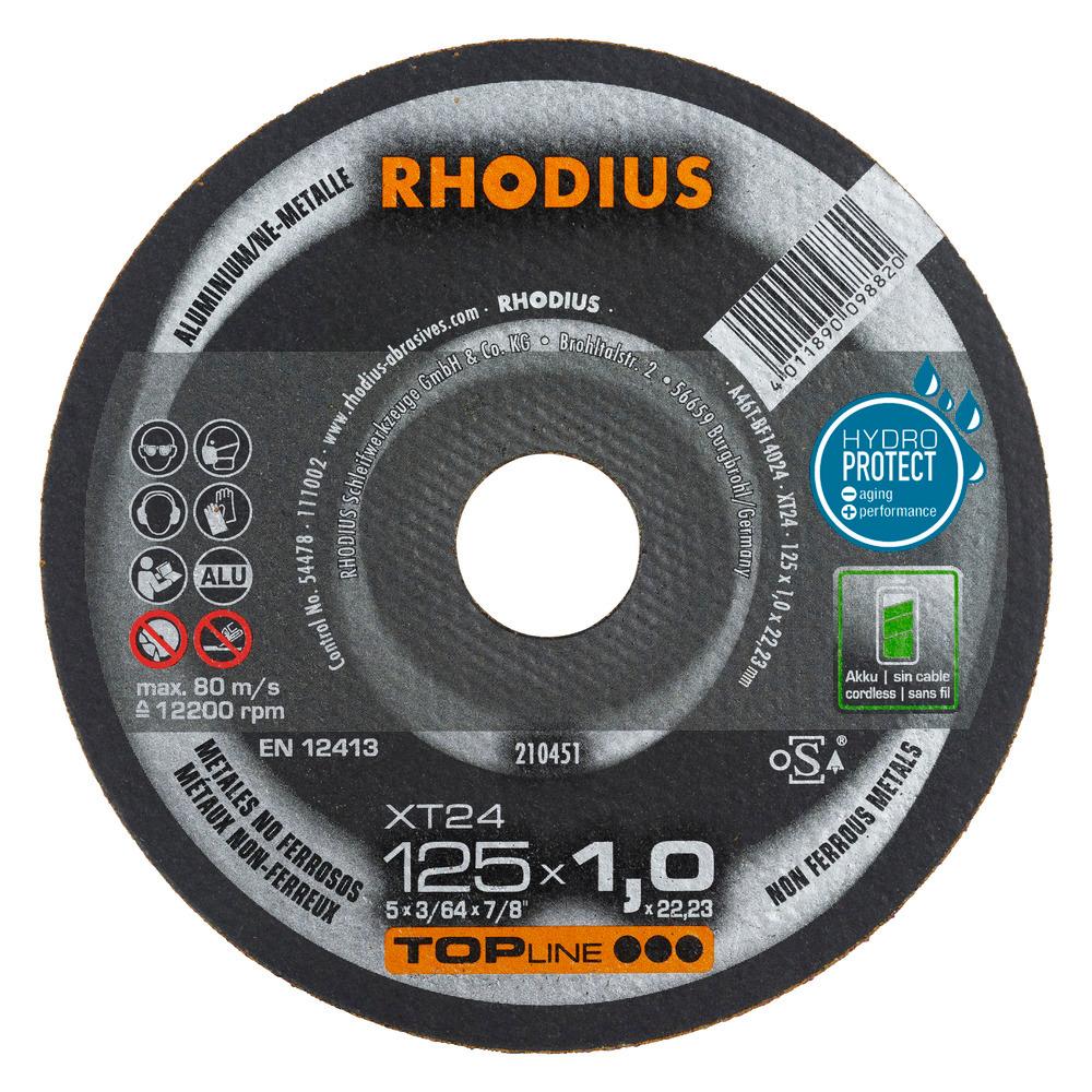 Rhodius XT24 Doorslijpschijf 125 x 1,0 x 22,23 RVS